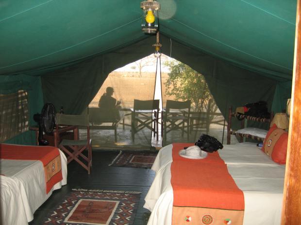 Satao Tent inside