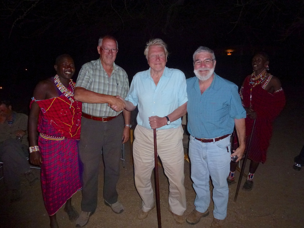 As we drove into Porini Camp (Amboseli), a Cessna Caravan with Sir David Attenborough and his BBC crew landed. They were making a documentary on the 'Lion Guardians', about how the Masai warriors now adopt a lion and protect it - rather than killing a lion as a rite of passage to warriorhood.
