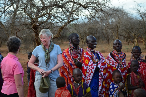 Our Aussie ladies get a chance to meet the Masai ladies.